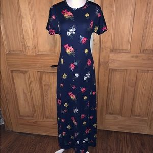 NEW! S LLR Floral & Navy Printed Maria Maxi Dress